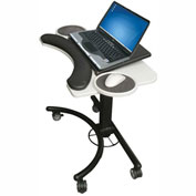 "Balt® 89829 Lapmatic Laptop & Keyboard Stand, 20""-30""H x 28""W x 18""D, Gray/Black"
