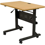 Balt® Flipper Training Table, 36 x 24, Teak
