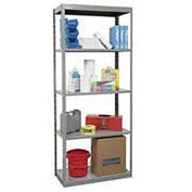 "Hallowell Steel Shelving 36""Wx24""Dx85""H Open Clip Style 5 Shelf"