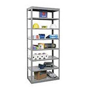 "Hallowell Steel Shelving  36""Wx24""Dx87""H Open Clip Style 8 Shelf"