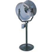 "Triangle Engineering 24"" Pedestal Fan With Poly Housing 245541 1/2 HP 5600 CFM"