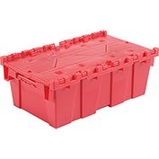 Plastic Storage Totes - Shipping Hinged Lid  DC2012-07 19-5/8 x 11-7/8 x 7 Red