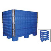 Vestil MULTI-C Multi-High Container 2000 Lbs Capacity, Blue