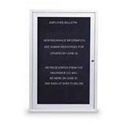 "United Visual Products One-Door Indoor Letter Board - 18""W x 24""H"