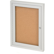 "United Visual Products One-Door Indoor Corkboard - 18""W x 24"""