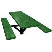 "48"" Single Post Rectangular Picnic Table Perforated Metal"