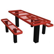 "96"" Permanent Rectangular Picnic Table (ADA) Expanded Metal"