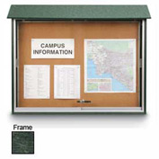 "United Visual Products Sliding-Door Outdoor Message Center - 45""W x 36""H - Woodland Green"