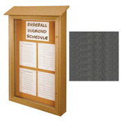 "United Visual Products Single-Door Outdoor Message Center - 26""W x 42""H - Woodland Green"