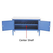 "72"" Cabinet Center Shelf-Blue"