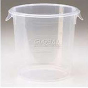 "Rubbermaid Commercial FFG572124CLR - Storage Container, Round, 4 Qt., 8-1/2"" Dia. x 7-3/4""H - Pkg Qty 12"