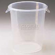 "Rubbermaid Comm. FG572824CLR - Storage Container, Round, 5-1/2 Gal., 13-1/8"" Dia. x 14""H - Pkg Qty 6"