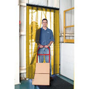Aleco® Air-Flex® Yellow Insect Barrier & Bug Curtain 405090 12'W x 7'H