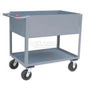 Jamco Extra Deep Shelf All Welded Steel Service Cart NB136 2000 Lb. Cap.
