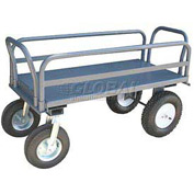 Jamco High Steel Deck Platform Truck EU248 with Side Rails 2500 Lb. Cap.