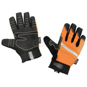 Ergodyne® ProFlex® 876WP Hi-Vis Thermal Waterproof Work Gloves, Orange, Medium
