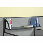 "Interion™ Hanging Shelf For 60""W Panel - Black"