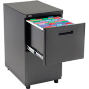 Interion™ 2 Drawer Pedestal File/File - Black