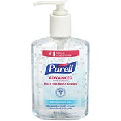 Purell Pump Bottle Hand Sanitizer 8 oz. Bottle - 12 Bottles/Case 9652