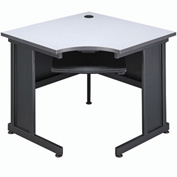 "Interion™ 36""W Corner Desk Gray"
