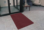 "Rubber Backed Barrier Rib Entrance Mat 4'X10' 3/8"" Thick Burgundy"