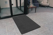 "Rubber Backed Barrier Rib Entrance Mat 3 Wide Up To 60 ft 3/8"" Thick Charcoal"