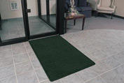 "Rubber Backed Barrier Rib Entrance Mat 3 Wide Up To 60ft 3/8"" Thick Hunter Green"