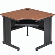 "Interion™ 36""W Corner Desk Cherry"