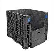 ORBIS BulkPak GP4048-39 Folding Bulk Shipping Container 48 x 40 x 39 2000 lb Capacity Black