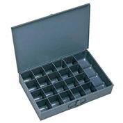 Durham Steel Scoop Compartment Box 109-95 - 21 Compartments - Pkg Qty 4