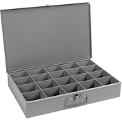 Durham Steel Scoop Compartment Box 111-95 - 20 Compartments 18 x 12 x 3 - Pkg Qty 4