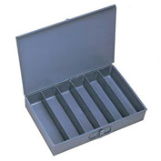 Durham Steel Scoop Compartment Box 117-95 - 6 Vertical Compartments - Pkg Qty 4