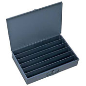 Durham Steel Scoop Compartment Box 125-95 - 6 Horizontal Compartments - Pkg Qty 4