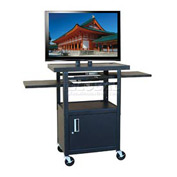 "Buhl Flat Screen Monitor Cart with Cabinet and 26"" to 42"" Height Adjustment"