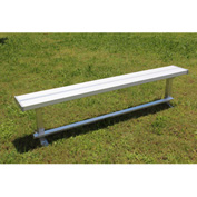 8' Aluminum Park Bench Without Back, Portable and/or Surface Mount