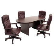 "Regency 10' Racetrack Conference Table 120""L x 47""W x 29""H Mahogany"