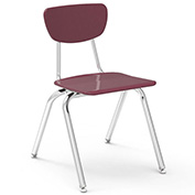 Virco 3018 Martest 21 Hard Plastic Chair Burgundy Package Count 4 by Virco