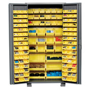"Jamco Bin Cabinet GS236KF - 14 Gauge Welded with 132 Bins Deep Door, 36""W x 24""D x 78""H"