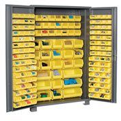 "Jamco Bin Cabinet GS248KC - 14 ga. Welded with 176 Bins Deep Door, 48""W x 24""D x 78""H"