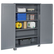 "Jamco Bin Cabinet GR248KR - 14 Gauge Welded with Louvered Panels And Shelves Flush Door, 48"" W"