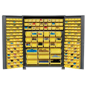 "Jamco Bin Cabinet GS260KAGP - 14 ga. Welded with 227 Bins Deep Door, 60""W x 24""D x 78""H"