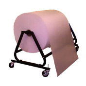 "Mobile Packaging Dispenser Max 72""W x 40"" Diameter Roll With Casters"