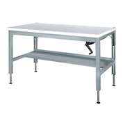 48 x 30 Hydraulic Ergonomic Workbench-Plastic Top