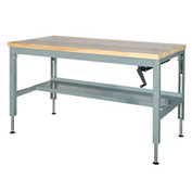 60 x 30 Hydraulic Ergonomic Workbench-Maple Top