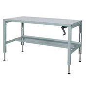 60 x 29 Hydraulic Ergonomic Workbench-Steel Top