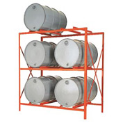Modern Equipment MECO DR6-3H Drum Storage Rack - 6 Drum Storage