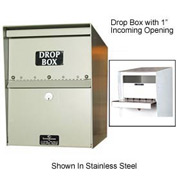 "Jayco LL6MAXSTD-DRP2 Heavy Duty Drop Box Locker 2"" Incoming Slot No Envelope Slot Gray"