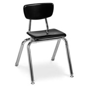 Virco® 3014 Martest 21® Hard Plastic Chair - Black - Pkg Qty 4