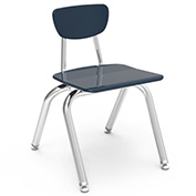 Virco® 3014 Martest 21® Hard Plastic Chair - Navy - Pkg Qty 4