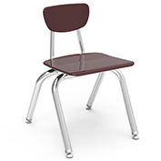 Virco 3014 Martest 21 Hard Plastic Chair Burgundy Package Count 4 by Virco